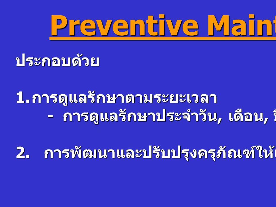 Preventive Maintenance ประกอบด้วย 1.