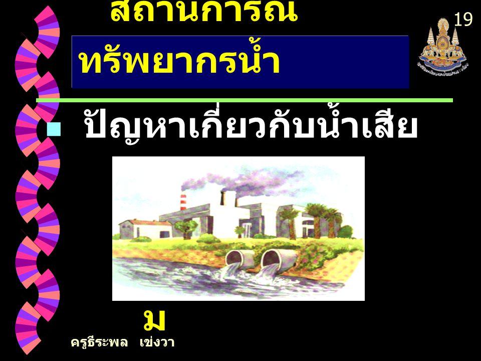 ครูธีระพล เข่งวา 18 ปัญหาเกี่ยวกับน้ำเสีย สถานการณ์ ทรัพยากรน้ำ 2. เกษตรกรรม
