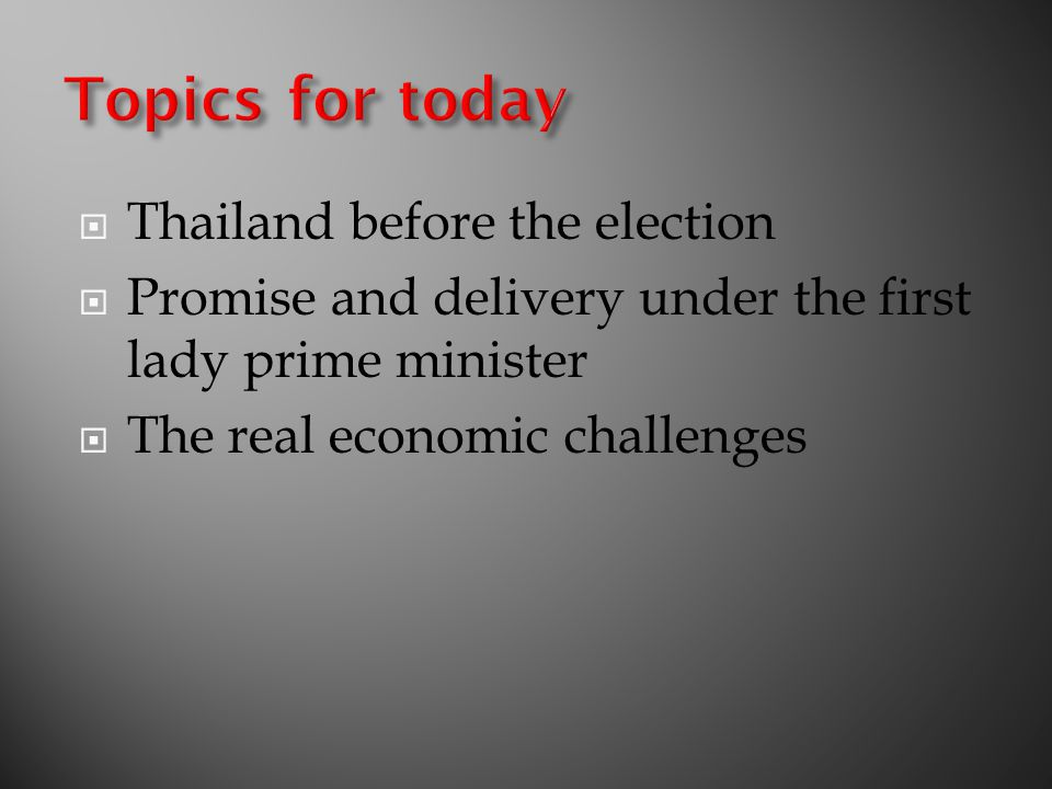 \\BANFS01\CASE\THAI VISION- PROPOSAL\NESDB 14 SEPT\NESDB14 - FINAL.PPT13 The New Geopolitics Thailand US Japan Europe India Russia China Existing Triad New Triad Japan Korea China ASEAN + 3 Thailand needs to balance ourselves with different political triads to position ourselves in the world geopolitics