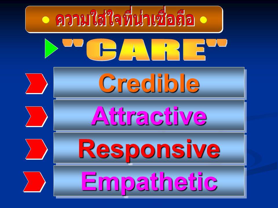 CredibleCredible AttractiveAttractive ResponsiveResponsive EmpatheticEmpathetic