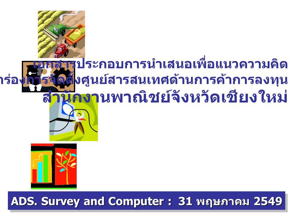 การเชื่อมต่อข้อมูลด้านการพาณิชย์กับ E-Province Presentation For : สำนักงานพาณิชย์จังหวัดเชียงใหม่