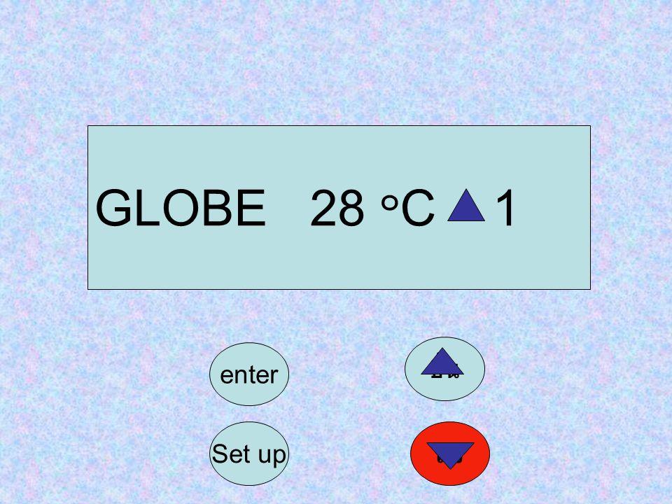 GLOBE 28 ๐ C 1 Set up enter ลง ขึ้น