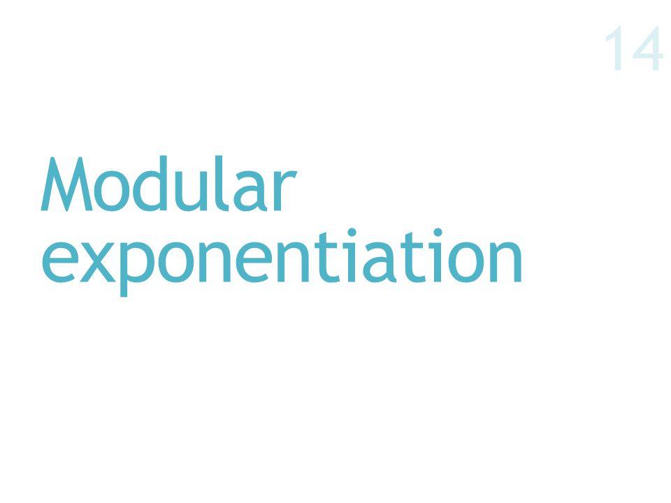 Modular exponentiation 14