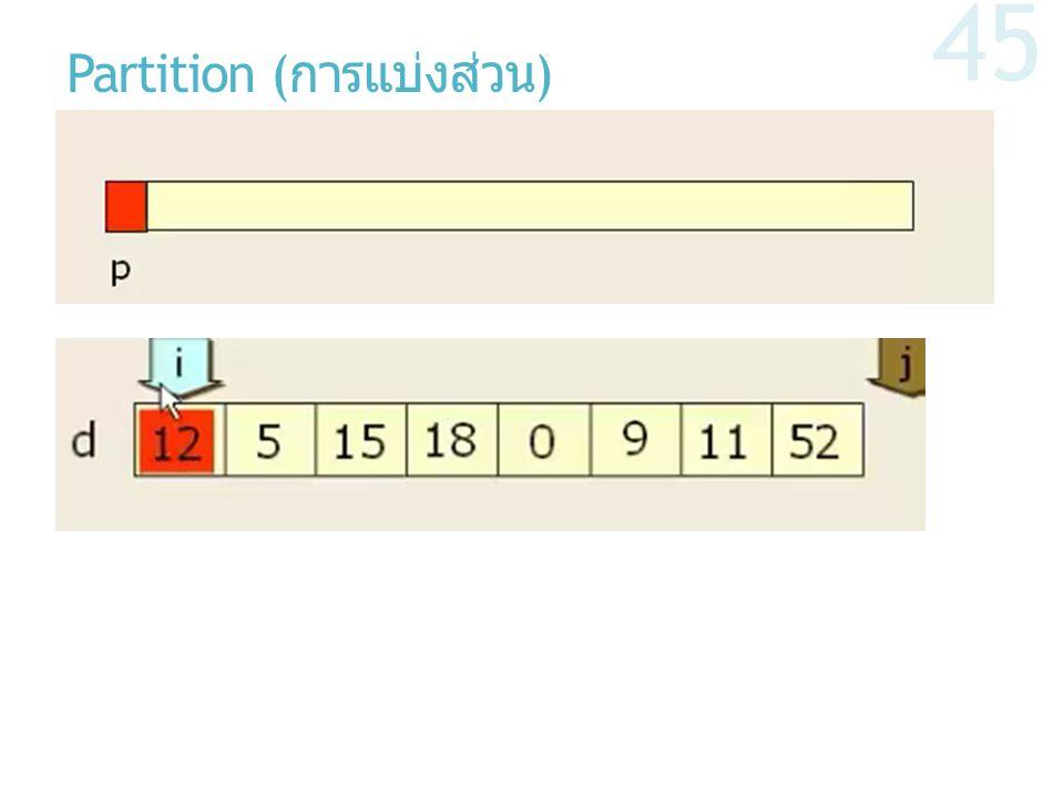 Partition ( การแบ่งส่วน ) 45