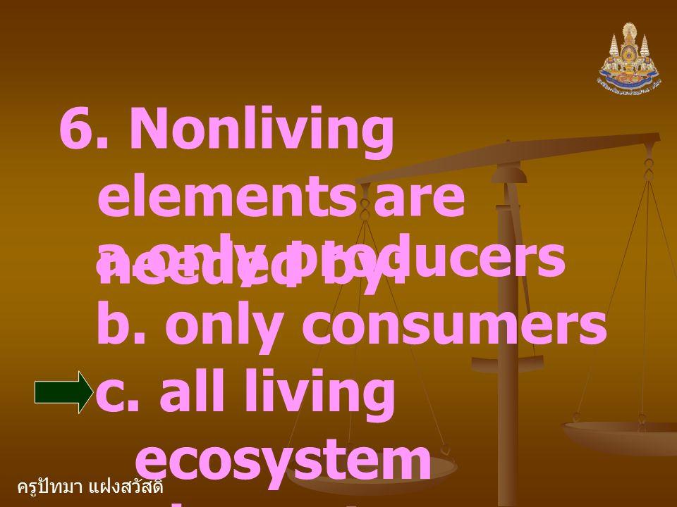 ครูปัทมา แฝงสวัสดิ์ Health and Your Environment Environ ment Hea lt h All living and nonliving elem en ts Ecosy stem Prod uce r Consu mer Decom poser