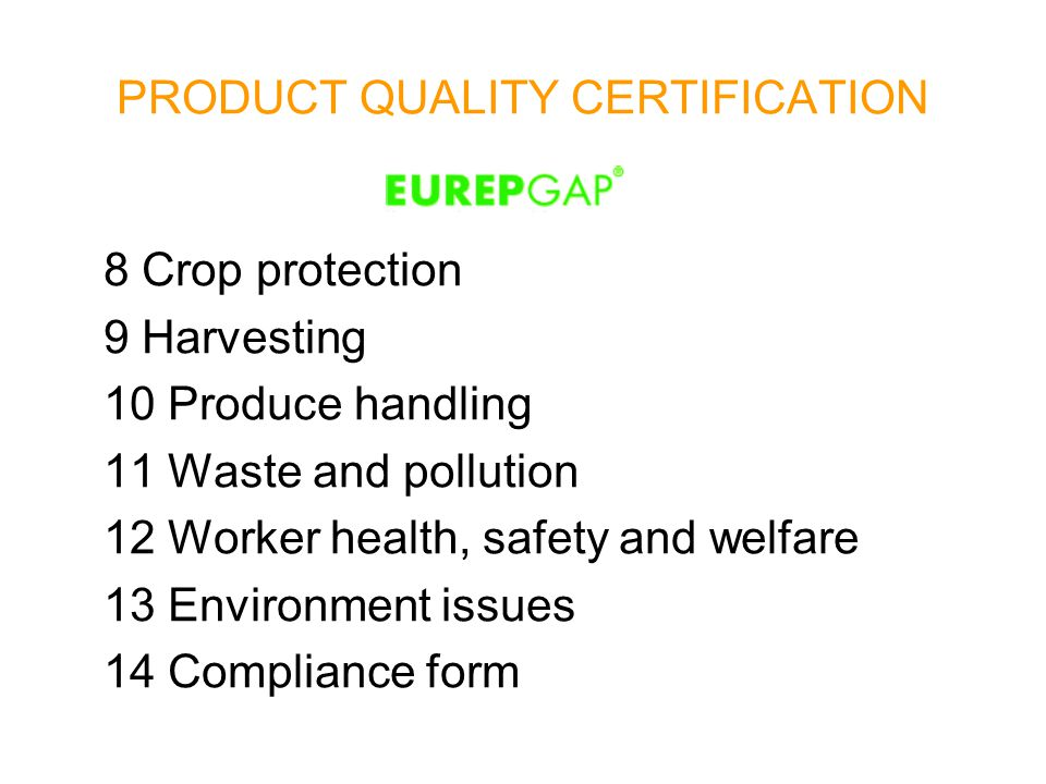 PRODUCT QUALITY CERTIFICATION STANDARD IFS (International Food Standards) IFS standard answers to the exigency of a higher transparency of finished products and row materials.