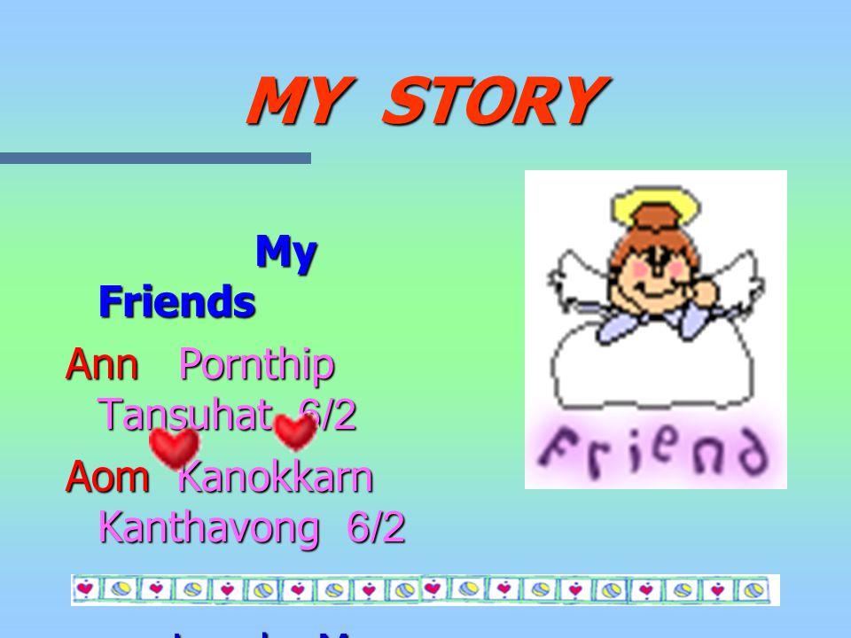 MY STORY My address 162 Moo.1 T.Nambolaung A.Sanpatong Chaing Mai 50120 E - mail : aof_ph@chaiyo.com