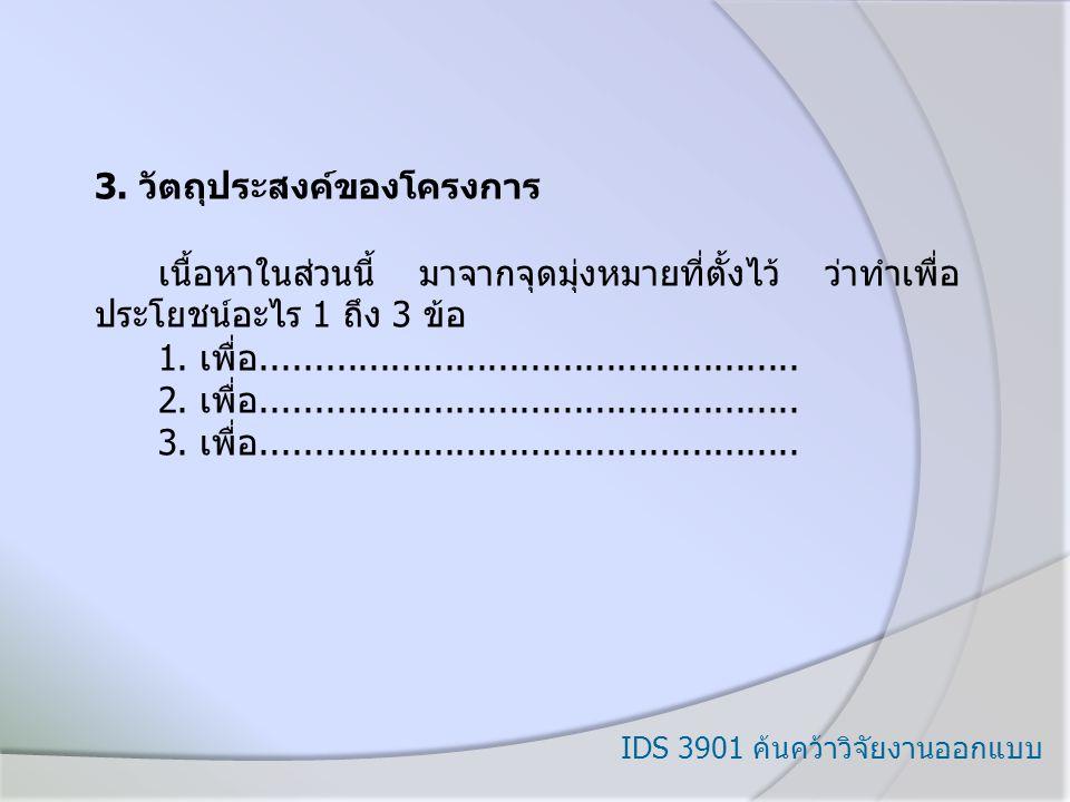IDS 3901 ค้นคว้าวิจัยงานออกแบบ 3.
