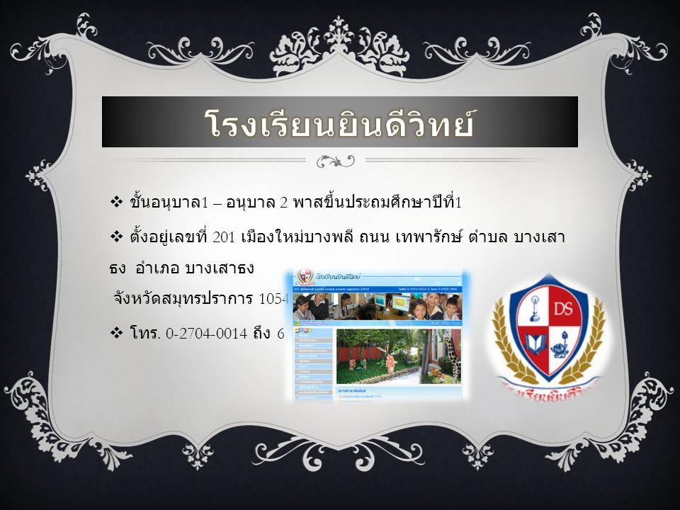  ประถมปีที่ 2 – ประถมปีที่ 6  5/1 ซอย เสรีไทย 54 เสรีไทย แขวง คันนายาว เขต คันนายาว กรุงเทพมหานคร 10240  โทร.