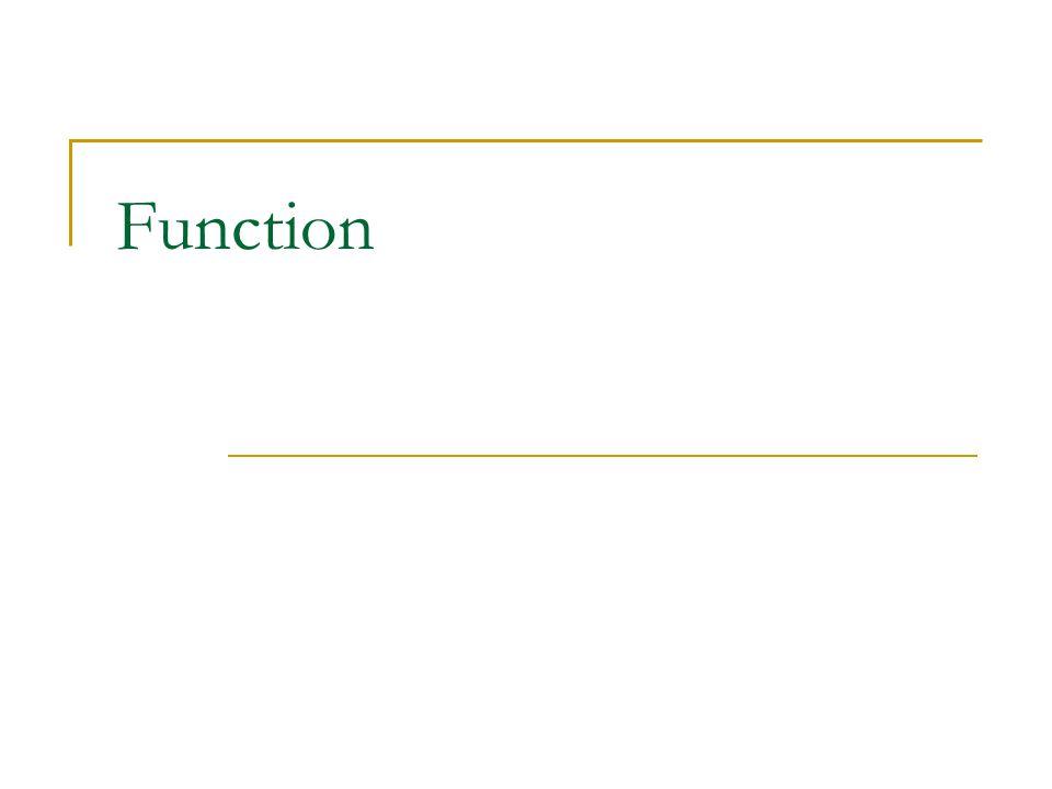 ตัวอย่าง Function with Return Value #include int one(); int nine(); int ten(); int main() { int x; x = one() + ten() * nine(); printf( x = %d\n ,x); return 0; } int one() { return 1; } int nine() { return 9; } int ten() { return 10; }