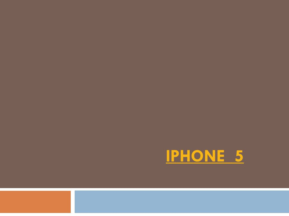 IPHONE 5IPHONE 5