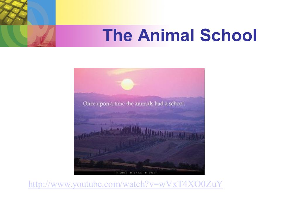The Animal School http://www.youtube.com/watch?v=wVxT4XO0ZuY