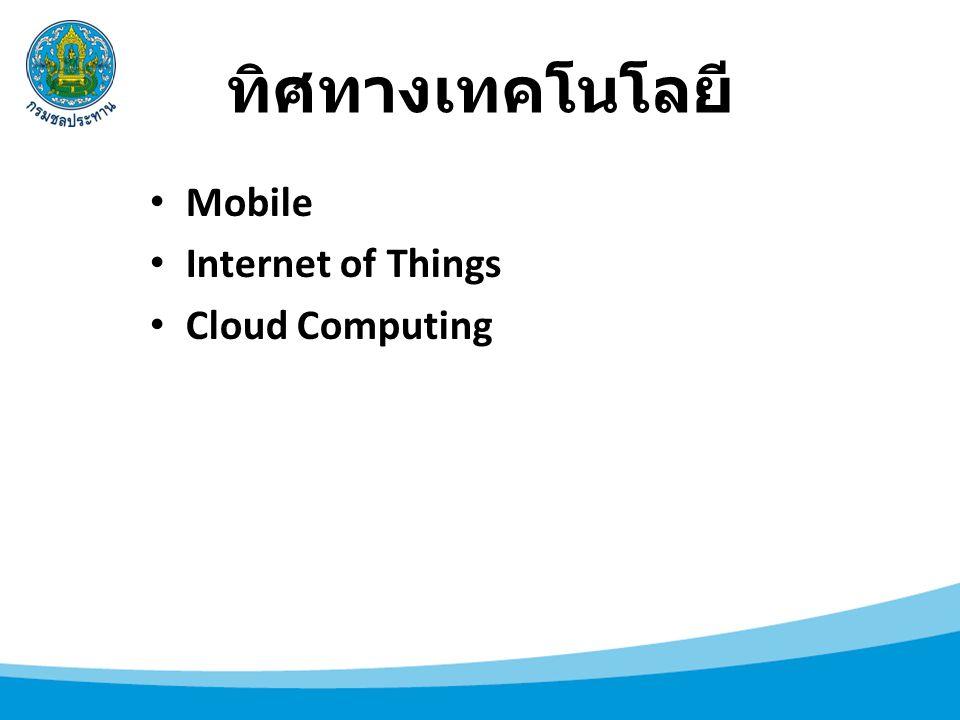 ทิศทางเทคโนโลยี Mobile Internet of Things Cloud Computing