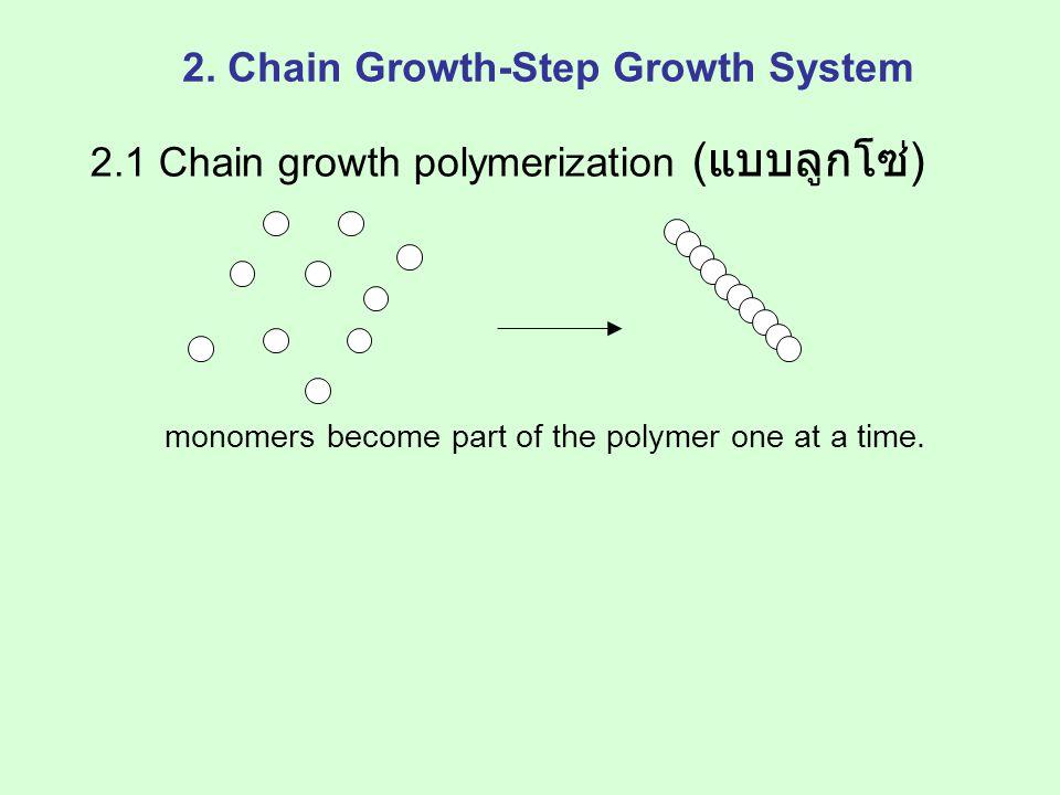 monomer ที่ใช้ต้องมีหมู่ฟังก์ชันอย่าง น้อย 2 หมู่ diaciddial polyester