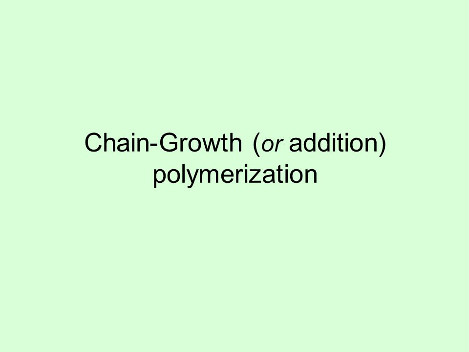 n n monomerpolymer C = C H HH H C H H H H n When ethylene is polymerized to make polyethylene, the every atom of the ethylene molecule becomes part of the polymer (none gained, none lost) Ethylene Polyethylene Example: