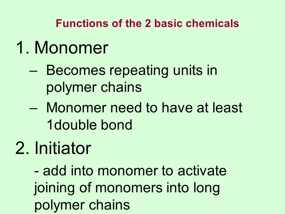 In a condensation polymerization, some atoms of the monomer don't end up in the polymer.