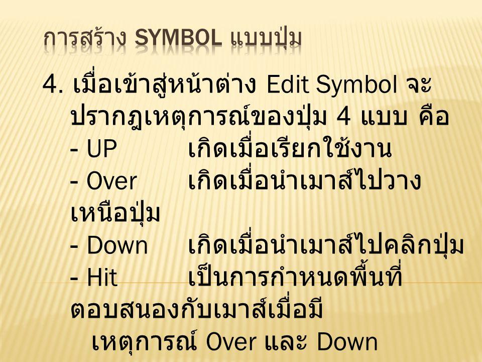 หน้าต่าง Edit Symbol