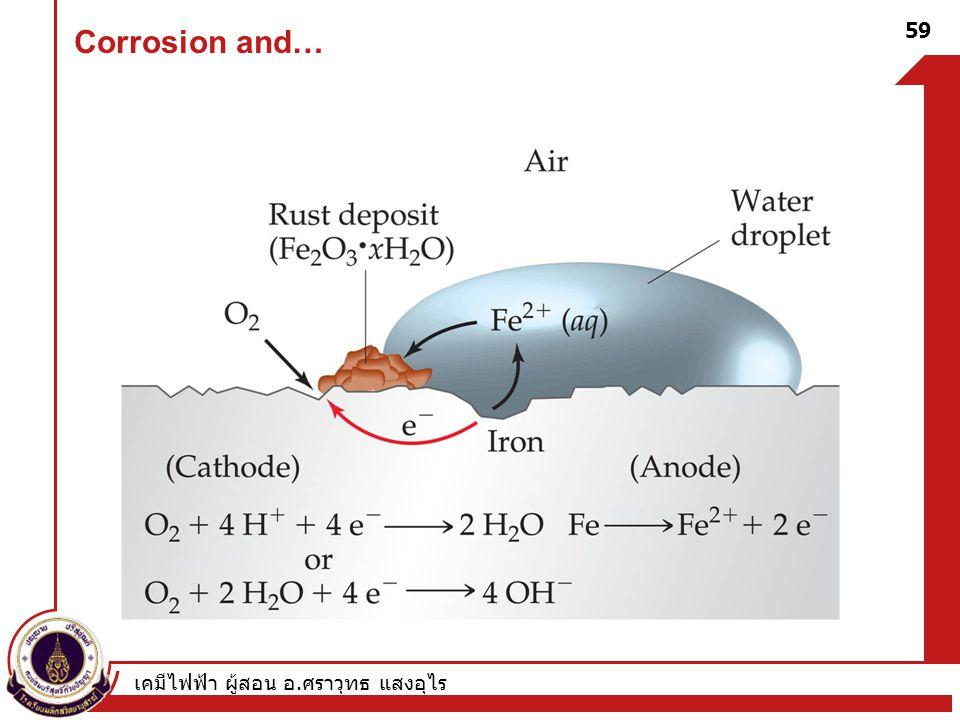 เคมีไฟฟ้า ผู้สอน อ. ศราวุทธ แสงอุไร 59 Corrosion and…