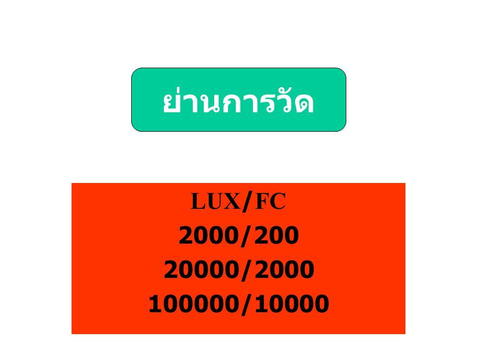 LUX/FC 2000/200 20000/2000 100000/10000 ย่านการวัด
