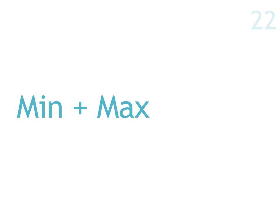Min + Max 22