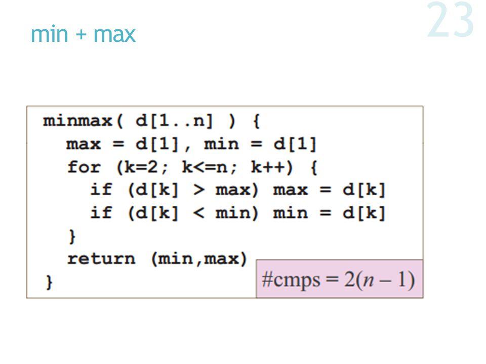 min + max 23