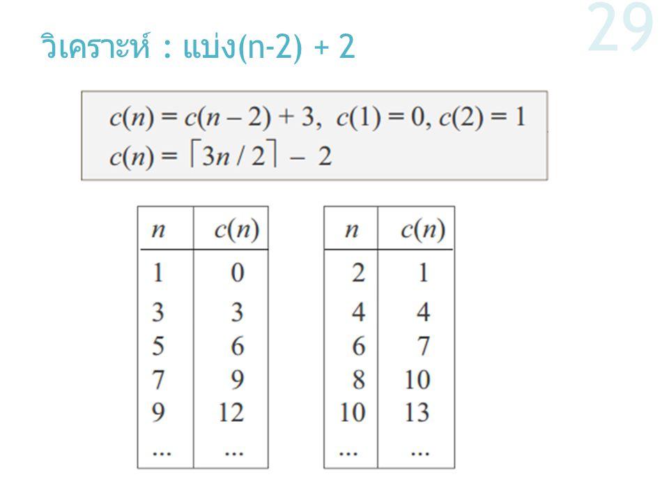 วิเคราะห์ : แบ่ง (n-2) + 2 29