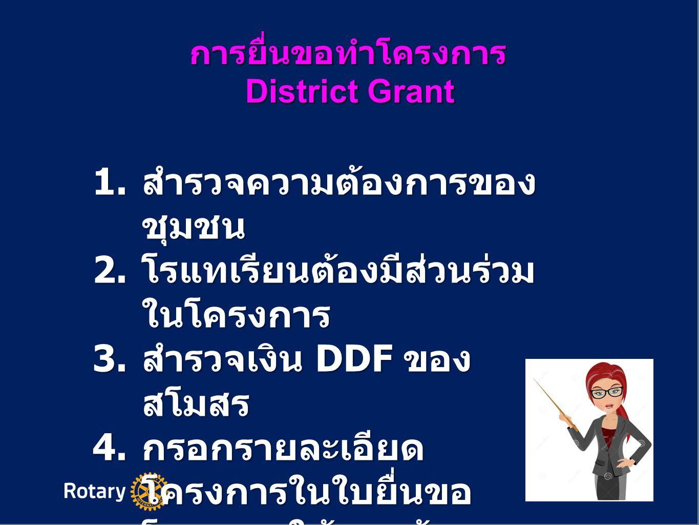 การยื่นขอทำโครงการ District Grant 5.
