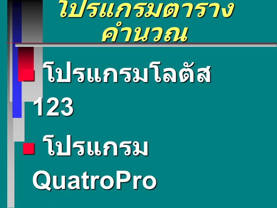 โปรแกรมประมวลคำ ตัวอย่าง โปรแกรมประมวลคำ โปรแกรมราชวิถี โปรแกรมราชวิถี โปรแกรม CU Writer โปรแกรม CU Writer โปรแกรม MS-Word 6.0 / 95 /97 โปรแกรม MS-Wor