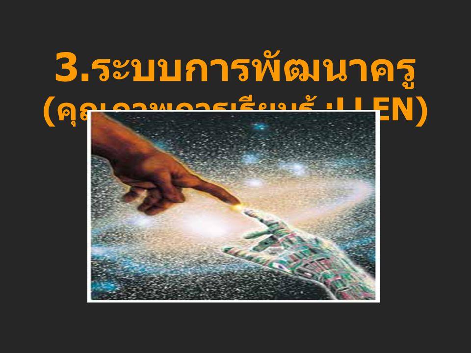 3. ระบบการพัฒนาครู ( คุณภาพการเรียนรู้ :LLEN)