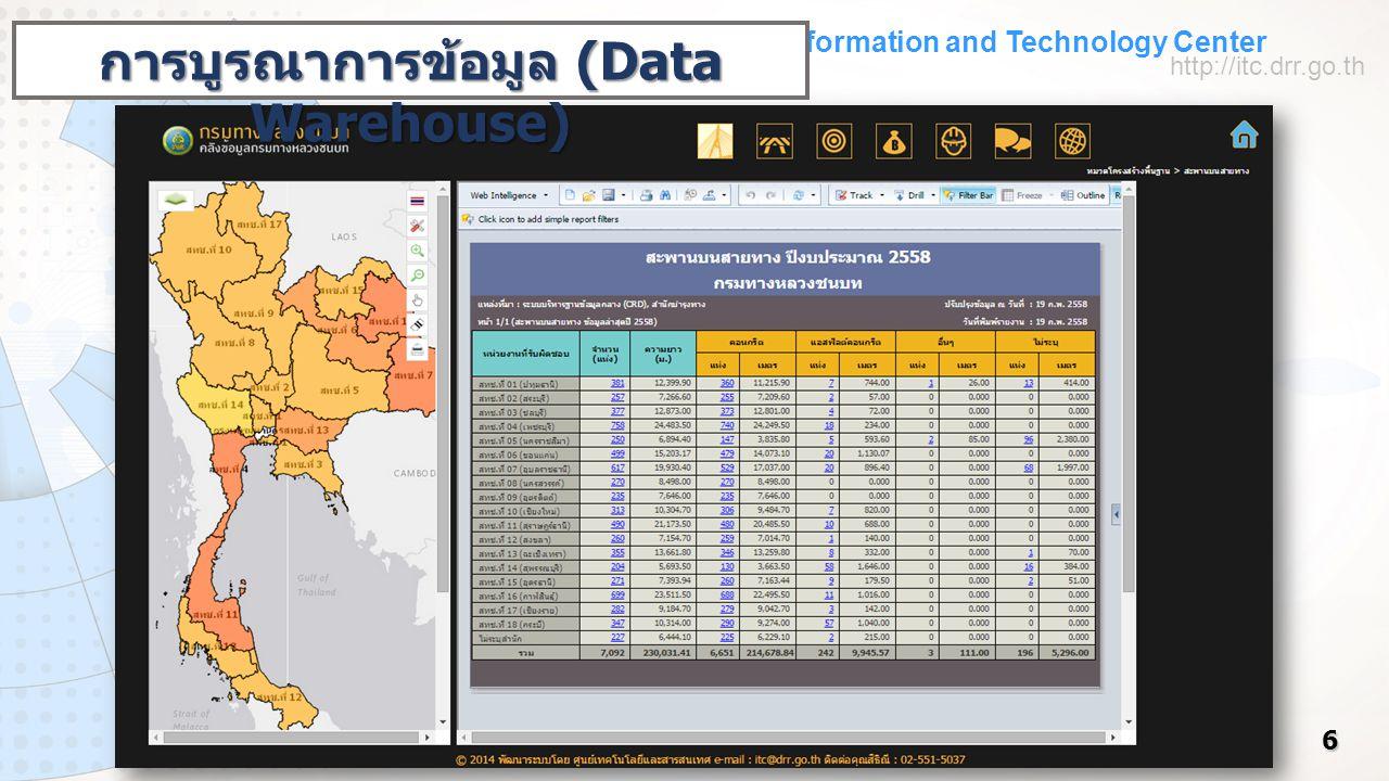 Information and Technology Center http://itc.drr.go.th 7 การปรับปรุงข้อมูลภูมิสารสนเทศ (GIS)