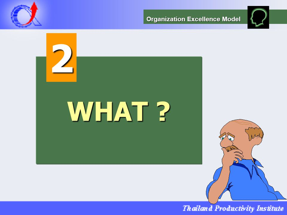 WHAT ? 2 Organization Excellence Model