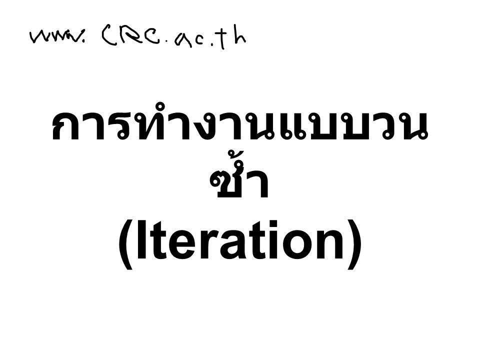 การทำงานแบบวน ซ้ำ (Iteration)