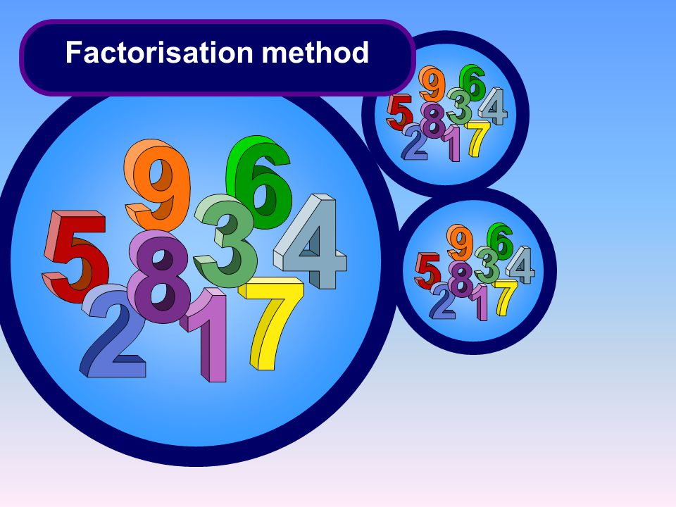 Factorisation method