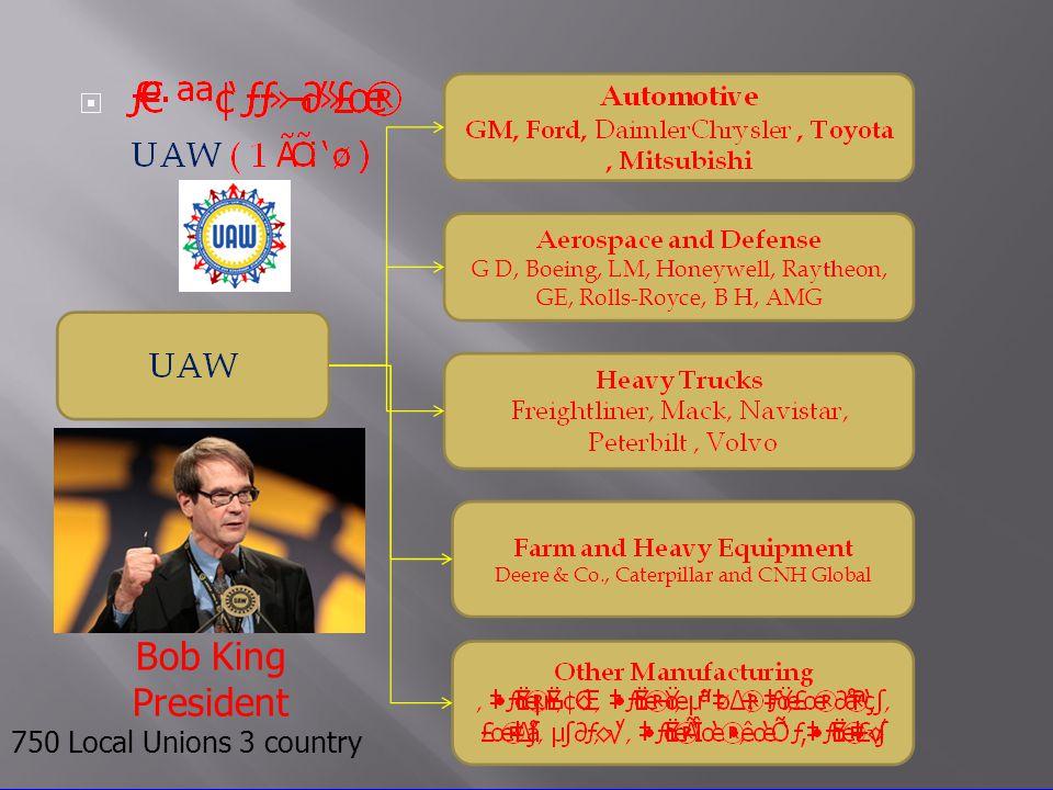 Ron Gettelfinger Ron Gettelfinger President Bob King President 750 Local Unions 3 country