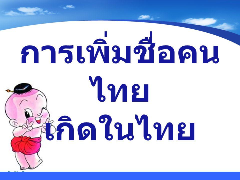 www.themegallery.com Company Logo ผู้ยื่นคำร้อง  เจ้าบ้านหรือผู้ขอเพิ่มชื่อ  ผู้อุปการะ หรือหน่วยงาน ที่อุปการะ ( กรณีเพิ่มชื่อ เด็กอนาถา )
