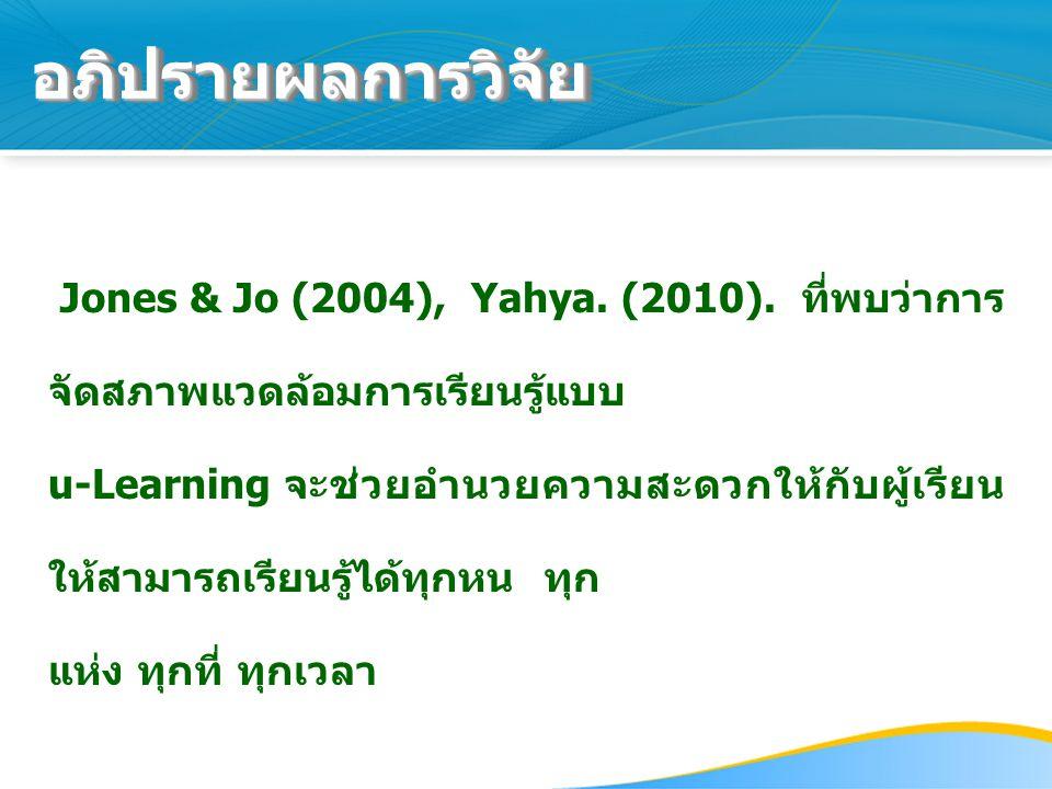 Jones & Jo (2004), Yahya.(2010).