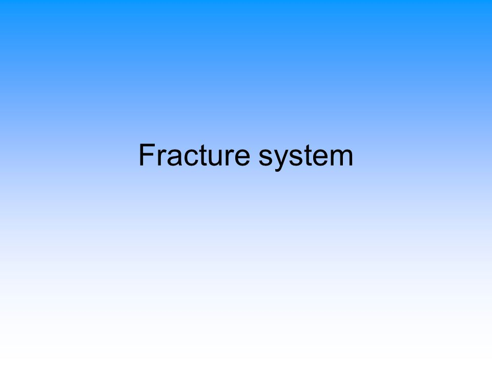 Fracture system