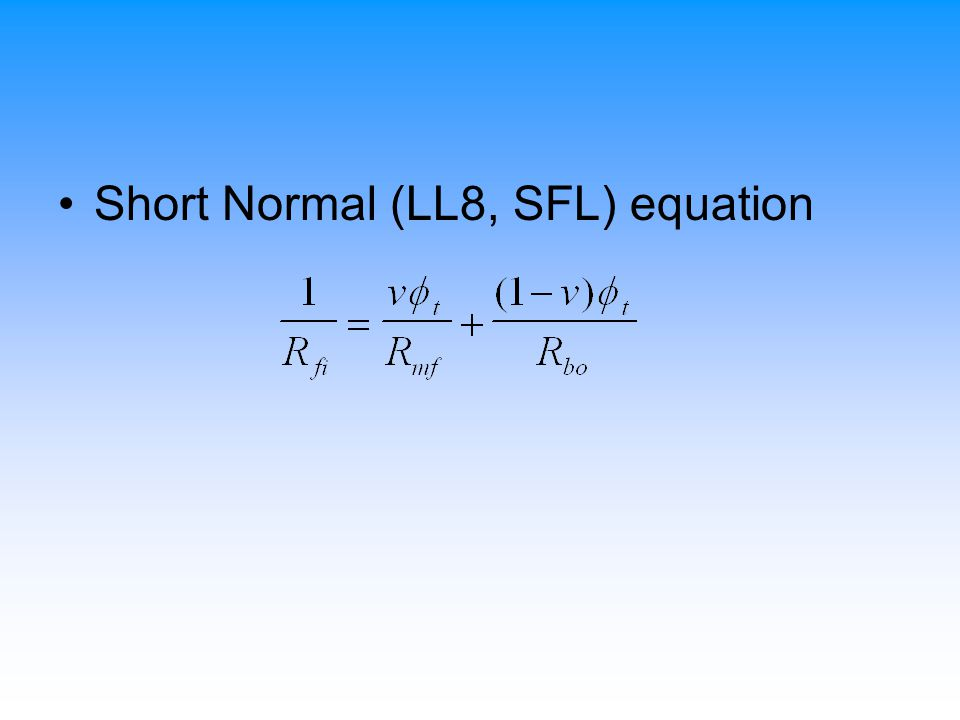 Short Normal (LL8, SFL) equation
