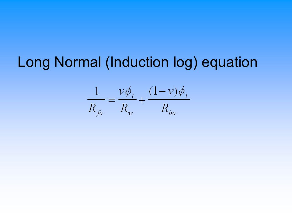 Long Normal (Induction log) equation