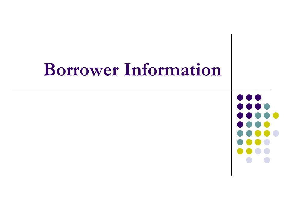 Borrower Information