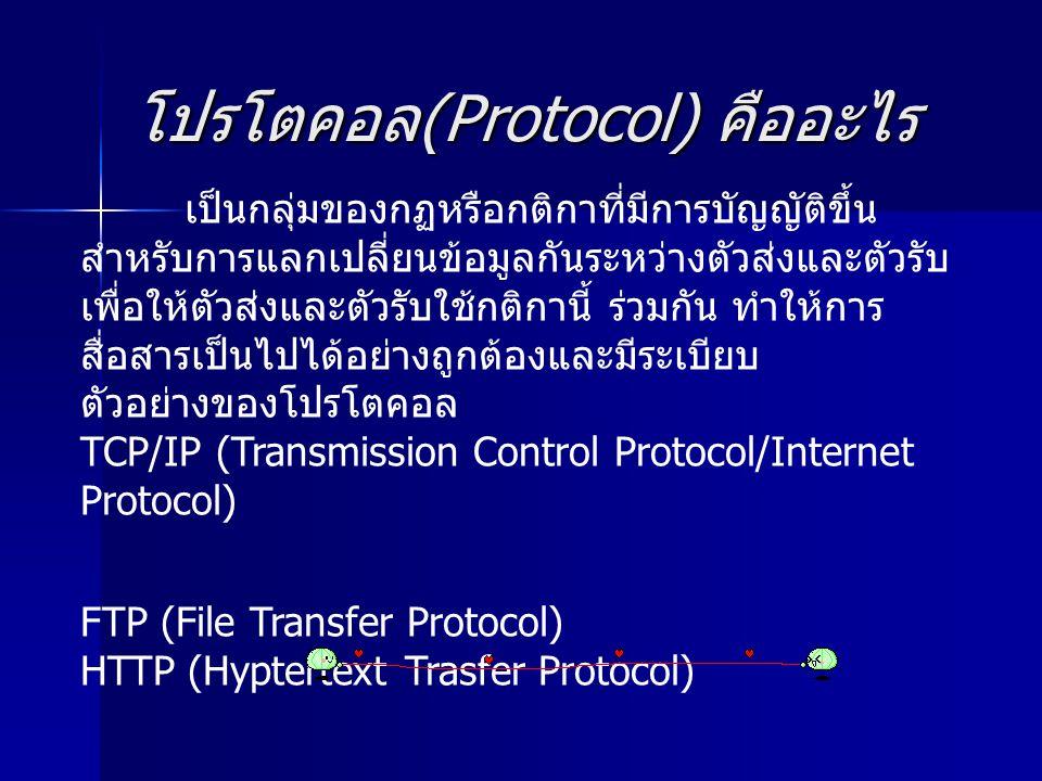 โปรโตคอล (Protocol) คืออะไร เป็นกลุ่มของกฏหรือกติกาที่มีการบัญญัติขึ้น สำหรับการแลกเปลี่ยนข้อมูลกันระหว่างตัวส่งและตัวรับ เพื่อให้ตัวส่งและตัวรับใช้กต