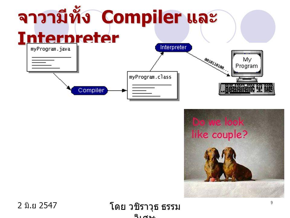 2 มิ. ย 2547 โดย วชิราวุธ ธรรม วิเศษ 9 จาวามีทั้ง Compiler และ Interpreter