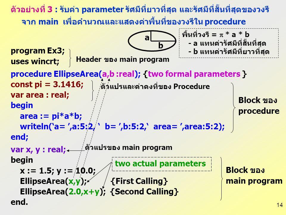 """13 ตัวอย่างที่ 2 : รับค่า parameter จาก main ถ้าเป็น 1 ให้พิมพ์ """"Press any key to continue."""" ถ้าไม่ใช่ 1 ให้พิมพ์ข้อความ """"Program terminate. Goodbye"""""""