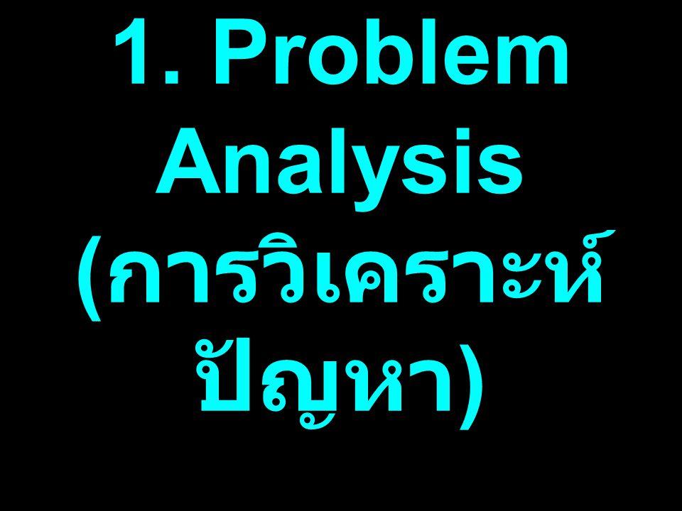 1. Problem Analysis ( การวิเคราะห์ ปัญหา )