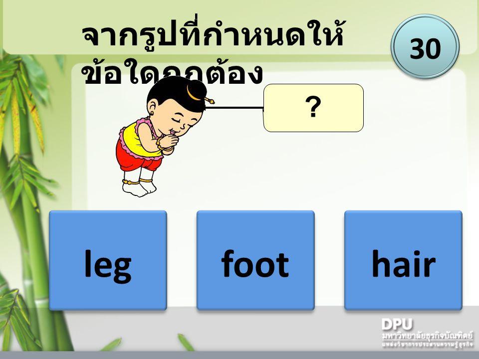legfoothair 30 จากรูปที่กำหนดให้ ข้อใดถูกต้อง ?