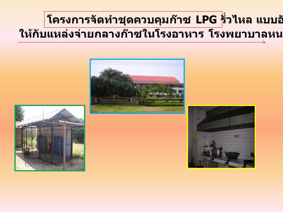 โครงการจัดทำชุดควบคุมก๊าซ LPG รั่วไหล แบบอัตโนมัติ ให้กับแหล่งจ่ายกลางก๊าซในโรงอาหาร โรงพยาบาลหนองบุญมาก จังหวัดนครราชสีมา