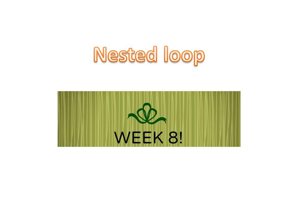 Nested Loop ในบทก่อนหน้านี้เราได้เรียนการเขียนโปรแกรม แบบที่ใช้ if ซ้อนกัน ในทำนองเดียวกันในงานที่ซับซ้อน การทำซ้ำก็ อาจจะต้อง implement ในรูปแบบของ loop ซ้อนกัน การประมวลผลในลักษณะที่เป็นตาราง loop ซ้อน มันจะเกิดขึ้นโดยธรรมชาติ – Loop นอกเป็นตัวควบคุม แถว ทั้งหมด – Loop ในเป็นตัวควบคุม คอลัมน์ ในแต่ละแถว 2