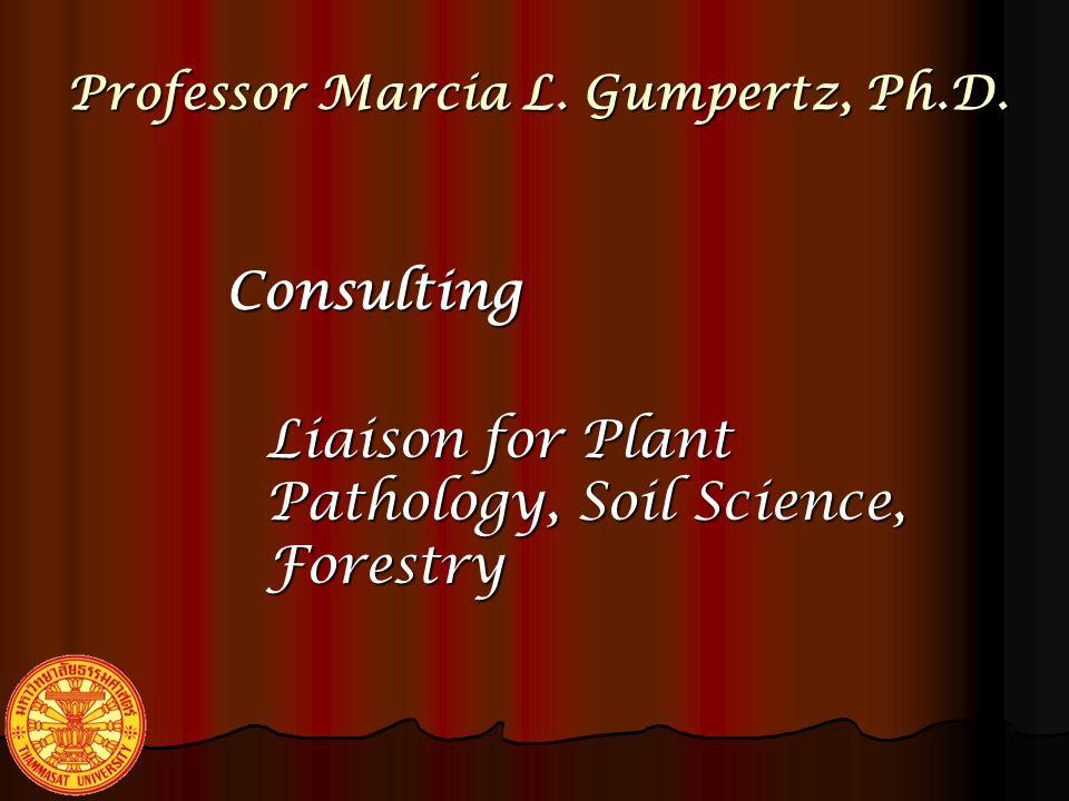 Professor Marcia L.Gumpertz, Ph.D.