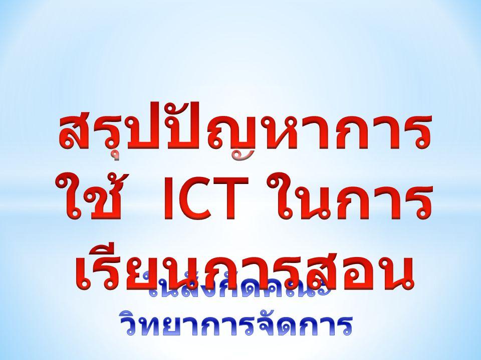 แผนภาพสรุปส่วนที่ 4 ประเด็นปัญหาจากการใช้ ICT ข้อที่ 3 ระบบเครือข่าย ( เช่น สัญญาณการ เชื่อมต่อ Internet, Wi-fi) เพศหญิง