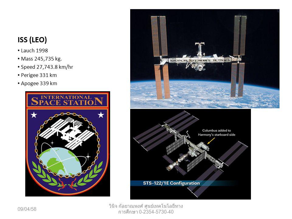 GPS (MEO) L1 1575.42 MHz L2 1227.60 MHz L3 1381.05 MHz L4 1379.913 MHz L5 1176.45 MHz 09/04/58 วินิจ กัลยาณพงศ์ ศูนย์เทคโนโลยีทาง การศึกษา 0-2354-5730-40